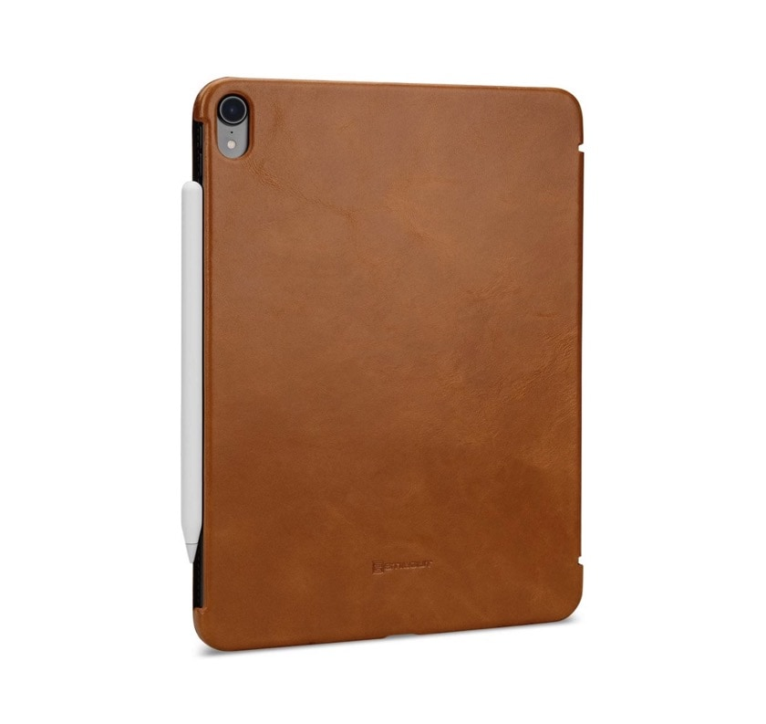 Genuine leather iPad Pro 11 case compatible with Apple Pencil charging