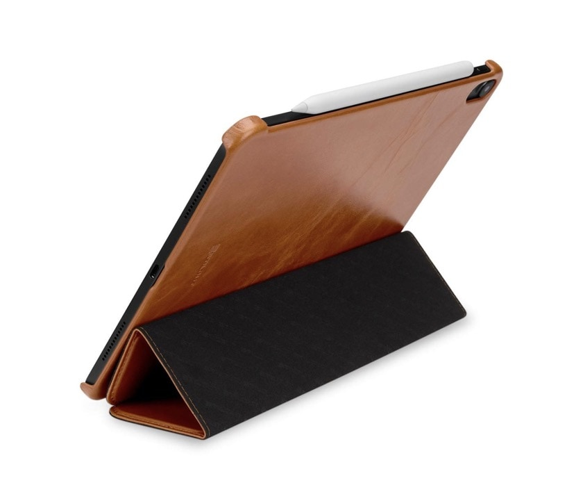 Genuine leather tri-fold stand case for Apple iPad Pro 11