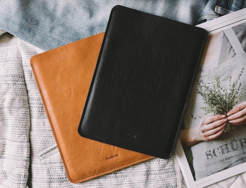 German-quality iPad Pro 11 leather and felt sleeve
