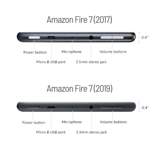 Is my old case compatible with Amazon Fire 7 2019 model