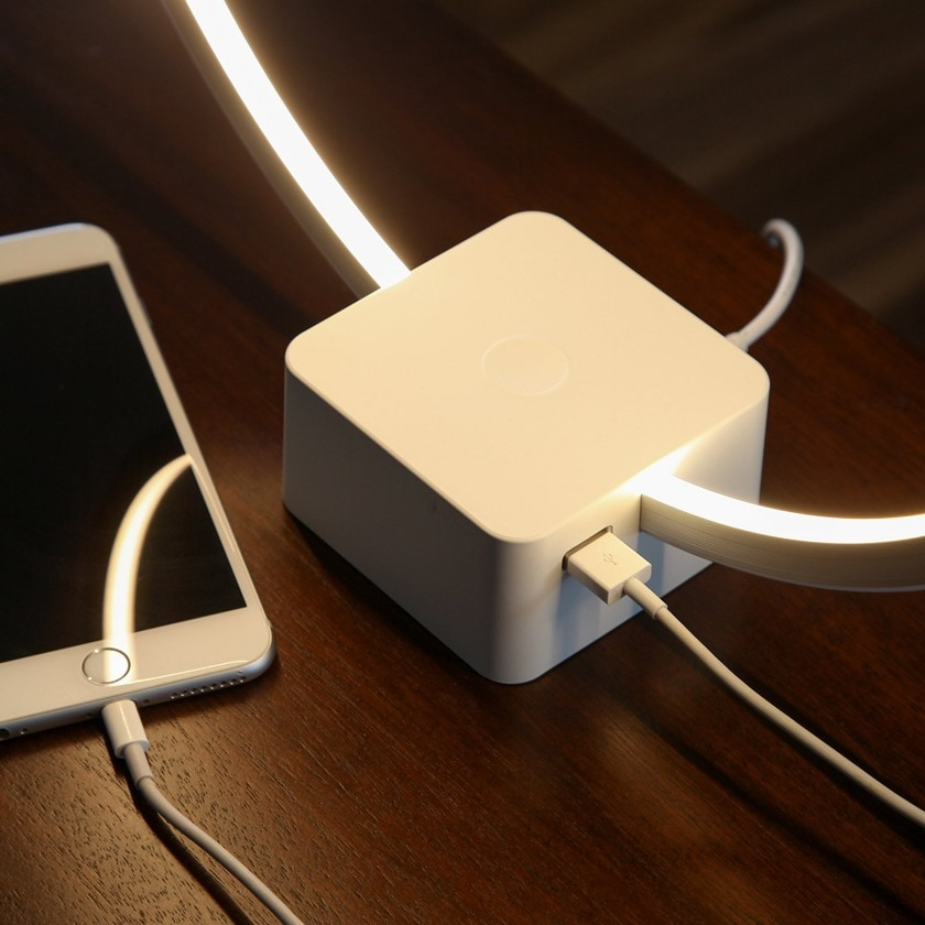Nightstand lamp with USB charger - best tech gifts