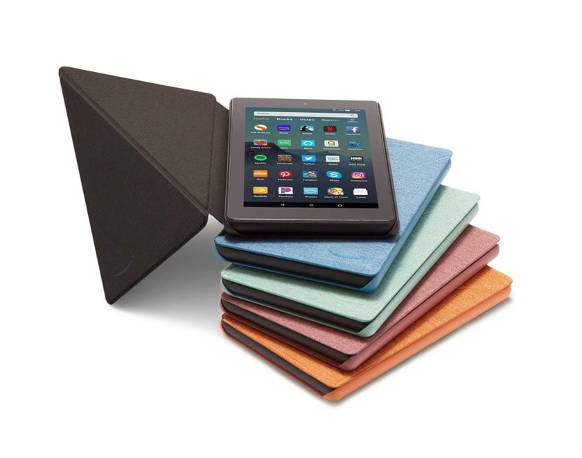 Original Amazon Fire 7 2019 fabric case covers are available in five desaturated colors