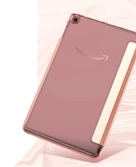 Rose Gold Amazon Fire 7 case 2019 with flexible back shell