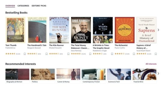 Scribd platform offers over 40 million ebooks, audiobooks, magazines, and comics
