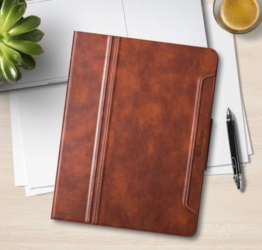 Stylish faux leather Apple iPad Pro 11 folio case