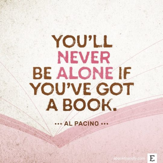 Al Pacino - best quotes on the importance of books