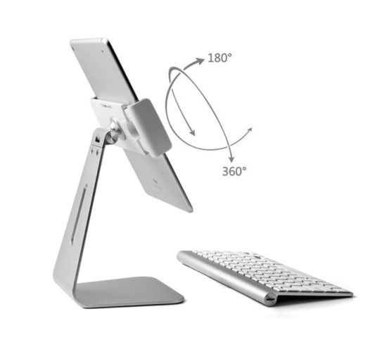 Apple iPad Pro stand from Stouch is fully rotatable