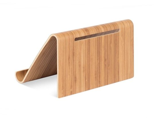 Bamboo kitchen stand for iPad and iPad Pro - great home decor