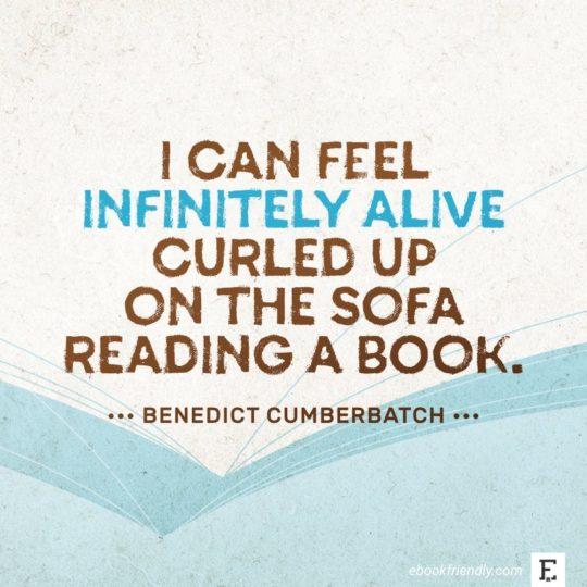 Benedict Cumberbatch - best quotes on the importance of books