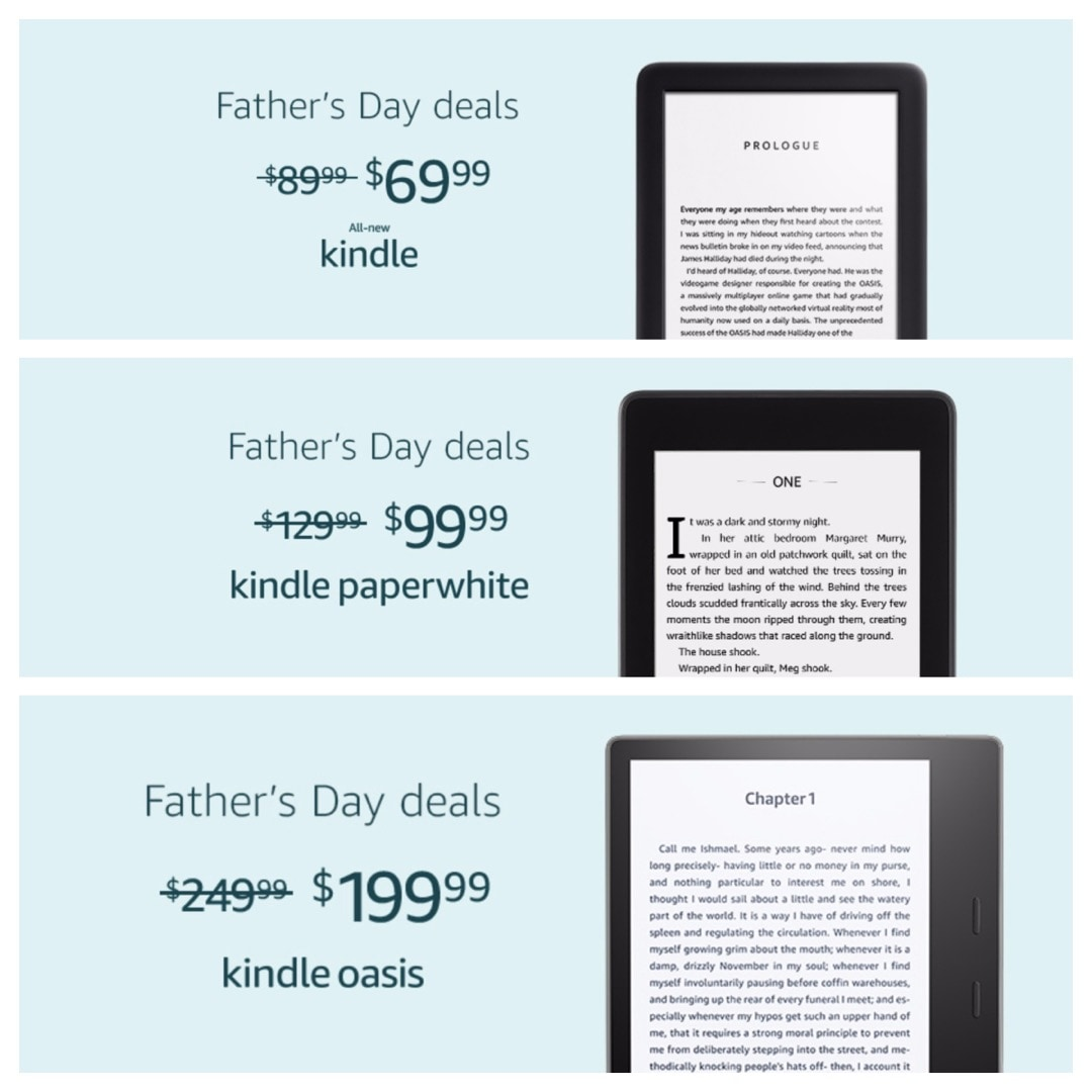 Best Amazon Kindle deals for Father's Day 2019