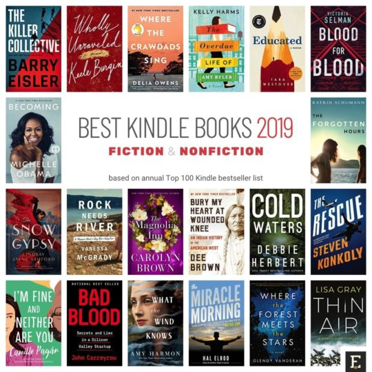 Best Kindle books of 2019 - fiction and nonfiction