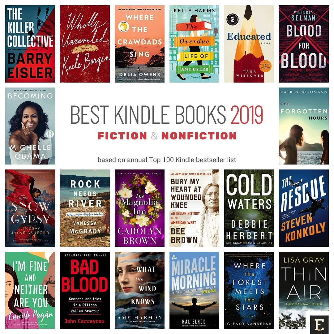 18 best selling kindle books of 2019 in fiction and nonfiction
