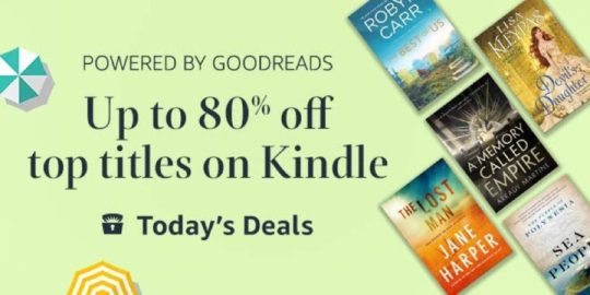 Kindle Daily Deal for June 2, 2019 - 75 top titles from Goodreads up to 80% off!