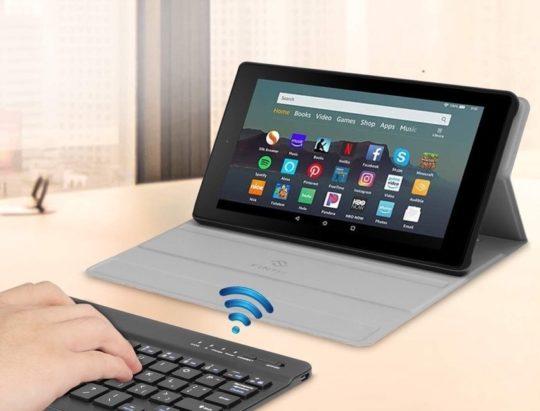 Bluetooth keyboard Amazon Fire 7 2019 case
