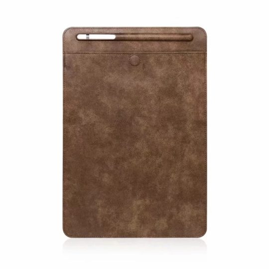 Affordable Leather Sleeve alternative for iPad Pro 11 - Brown