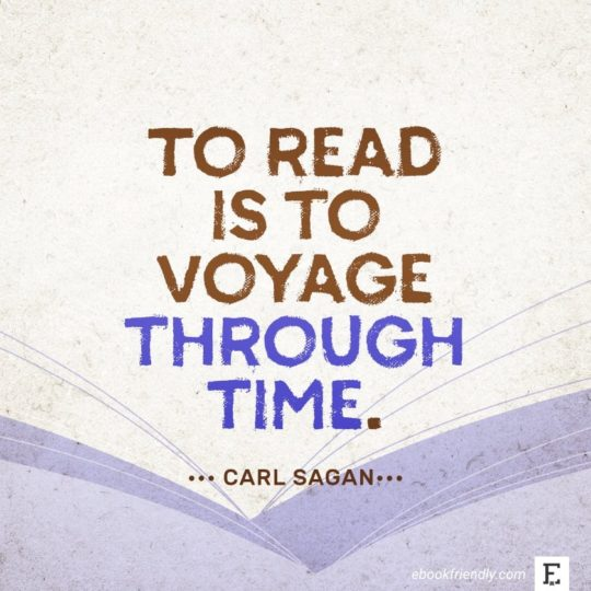 Carl Sagan - best quotes on the importance of books