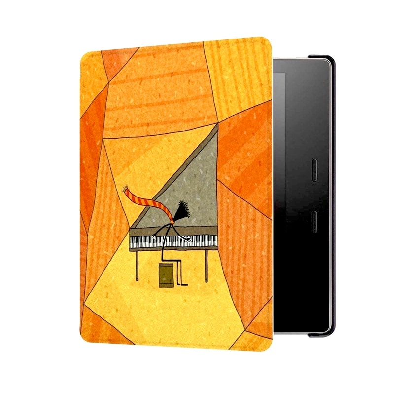 Cheerful cozy smart cover for Amazon Kindle Oasis 3