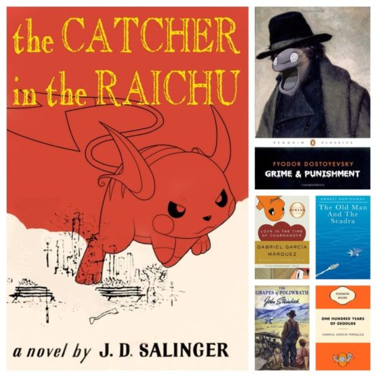 Famous book titles rewritten to include Pokemon names