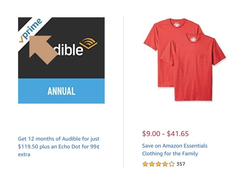 Finding Prime items for iPad on deal pages - look for Prime logo