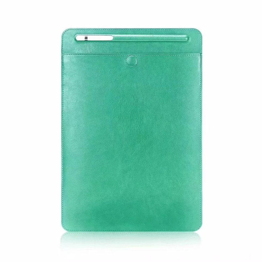 Affordable Leather Sleeve alternative for iPad Pro 11 - Green