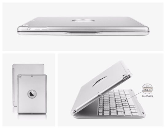Hard-shell iPad 9.7 keyboard case that looks like MacBook