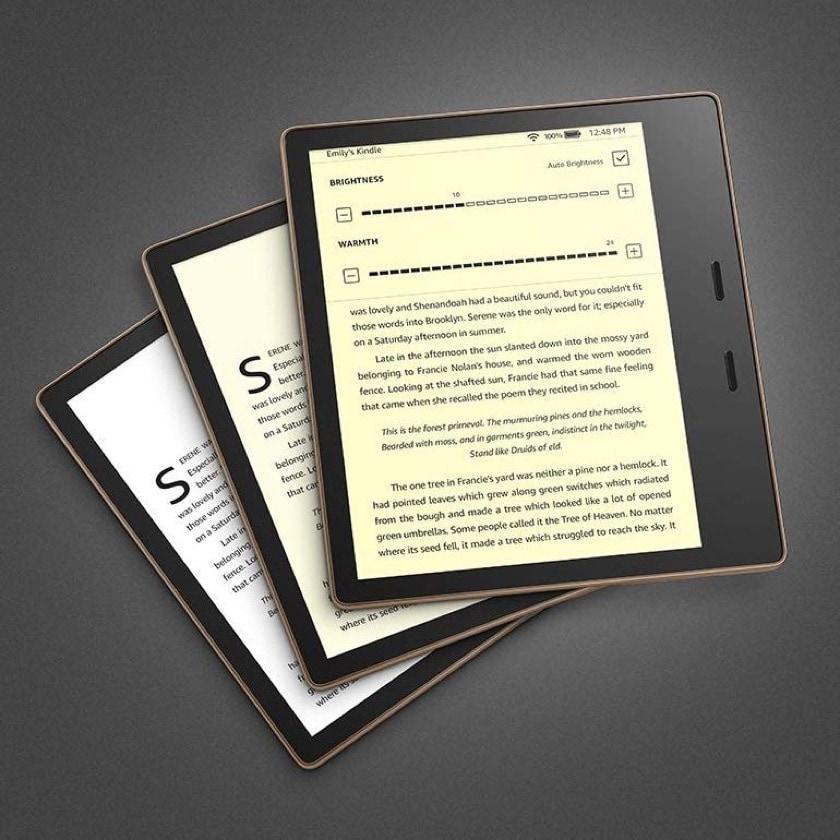 Kindle Oasis 2 2019 with adjustable display warmth