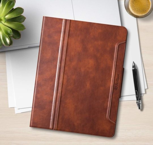 Leather iPad Air 2019 folio case on Amazon
