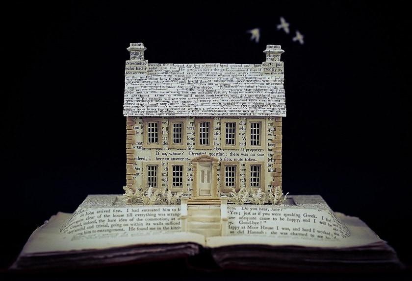 Literary Homes by Su Blackwell - Charlotte Bronte