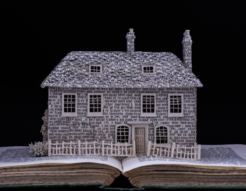 Literary Homes by Su Blackwell - Jane Austen - front
