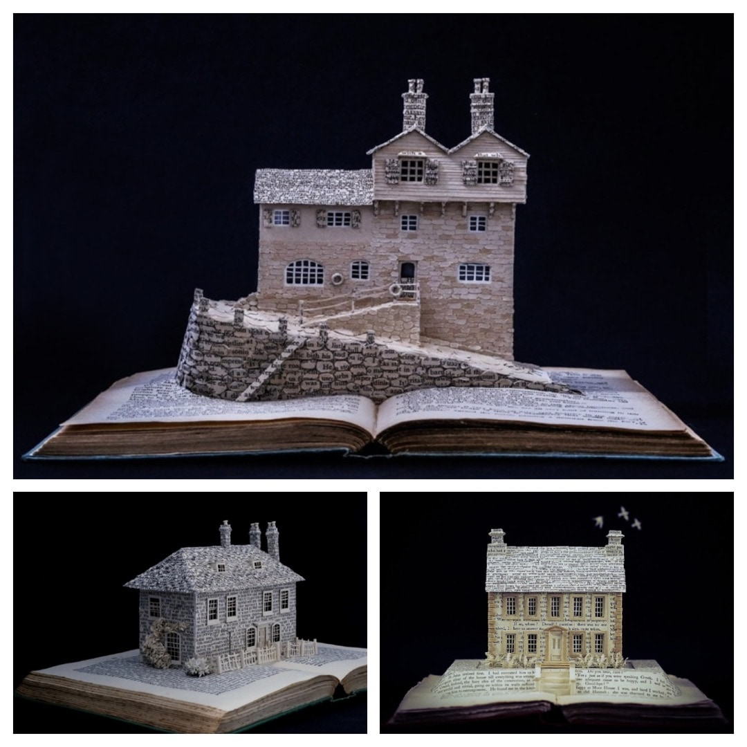 """""""Literary Homes"""" by Su Blackwell - book art series from 2017"""