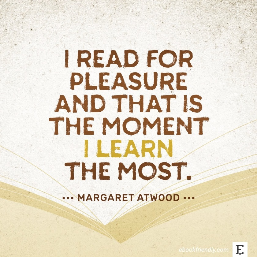 Margaret Atwood - best quotes on the importance of books