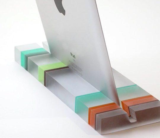 Modern designer resin iPad Stand