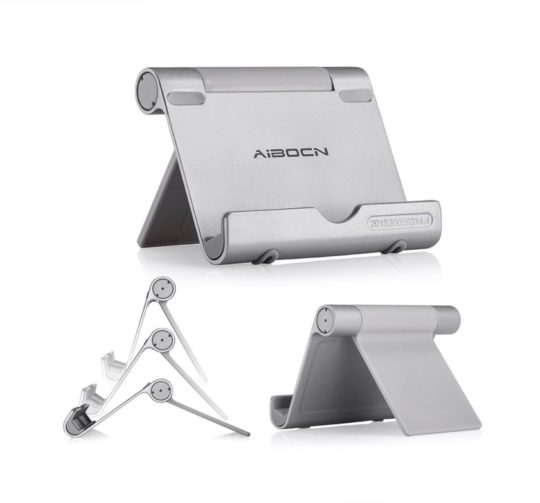 Portable and adjustable iPad aluminum stand