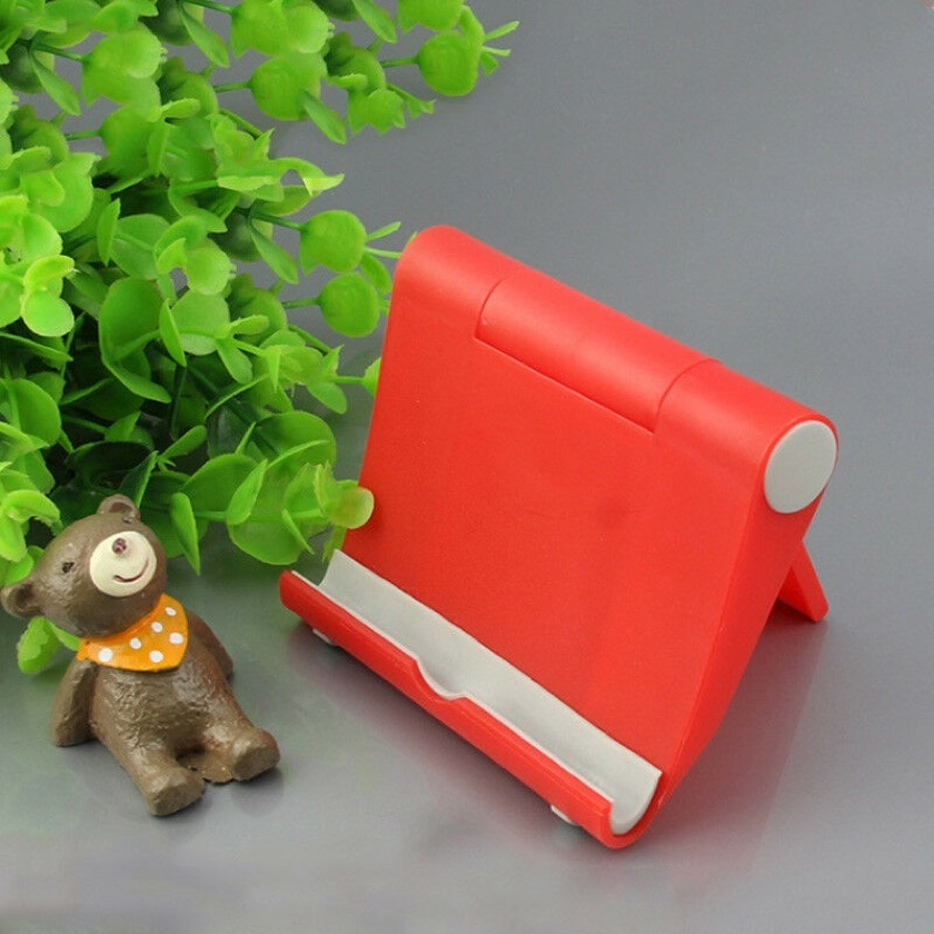 Portable tablet stand available in multiple bright colors