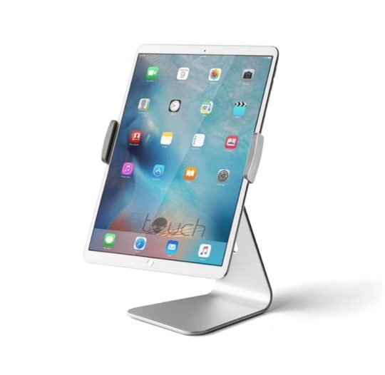 Rotatable aluminum iPad and iPad Pro desktop stand