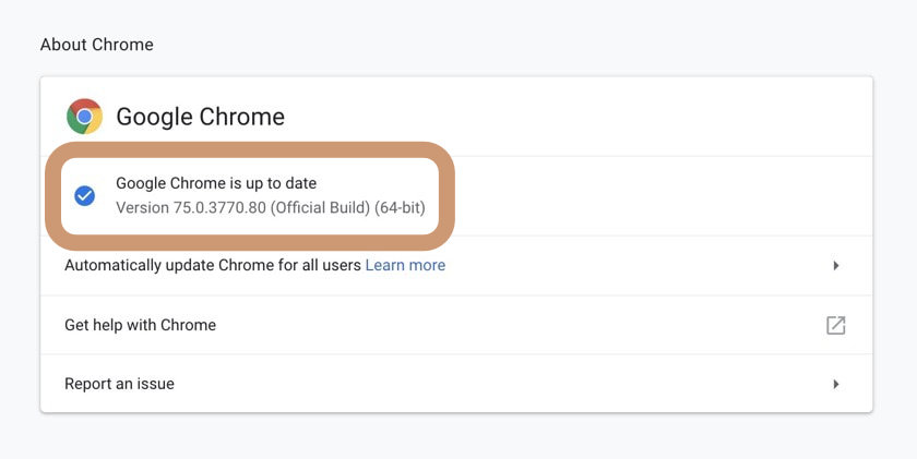 See the latest version of Chrome for Mac computers