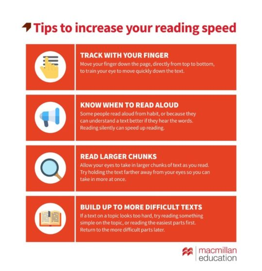 Tips to increase your reading speed