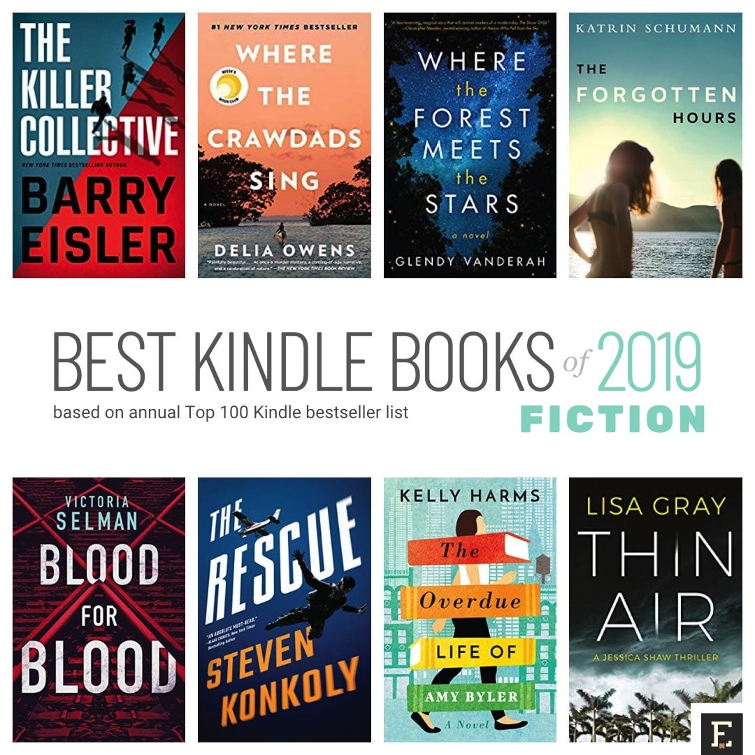 Top 10 best Kindle books of 2019 on fiction - based on annual Amazon bestseller list