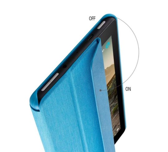 Tri-fold fabric Amazon Fire 7 2019 stand case