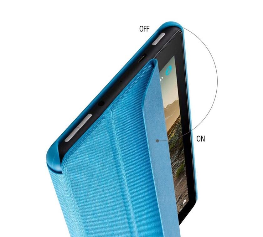 Tri-fold fabric Amazon Fire 7 2019 stand case