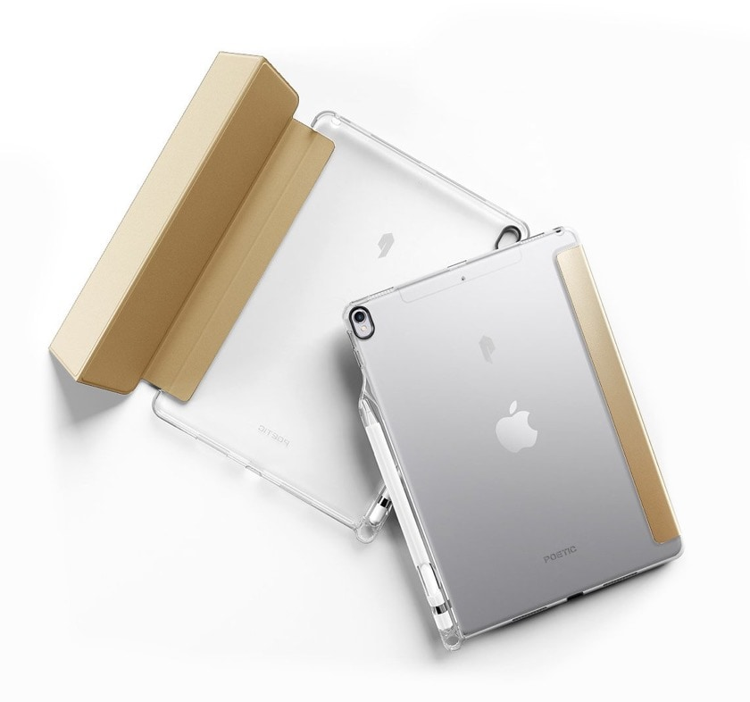 Tri-fold iPad Air 3 smart cover with clear back case