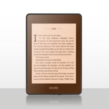 Visualization - Kindle Paperwhite with warm-light screen protector - orange