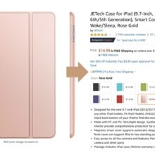 iPad on Amazon - find info about Prime eligibility on a product page