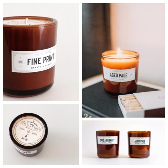 Book and library scented candles - best gifts for audiobook lovers