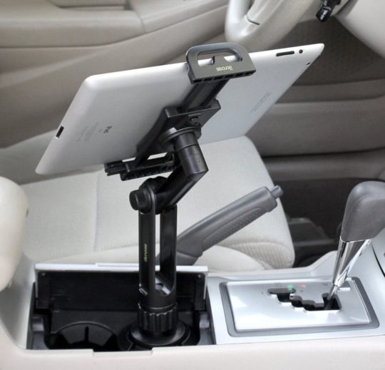 Car cup holder for iPad