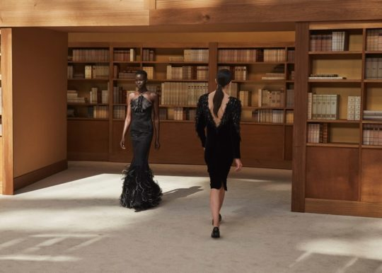 Chanel autumn winter 2019 collection set in a library