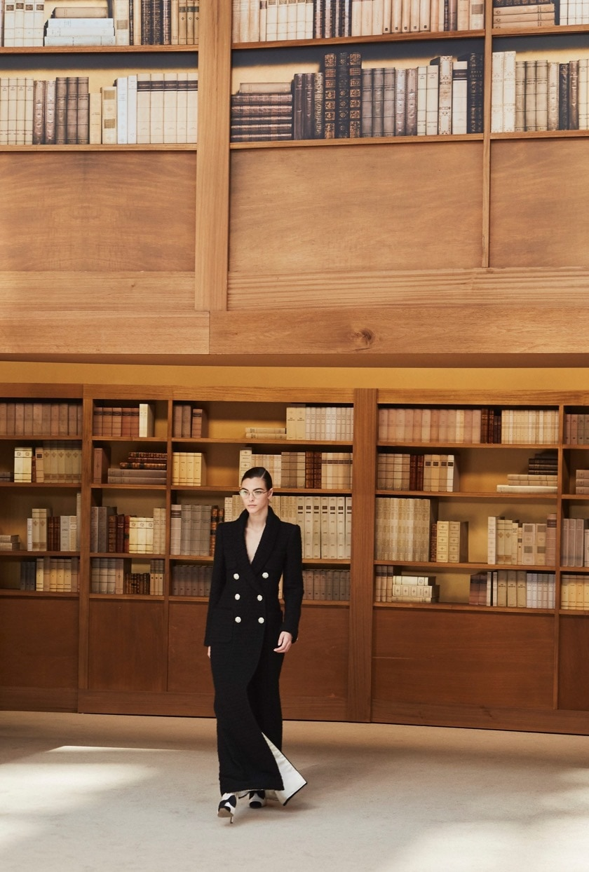 Chanel library-themed collection autumn winter 2019