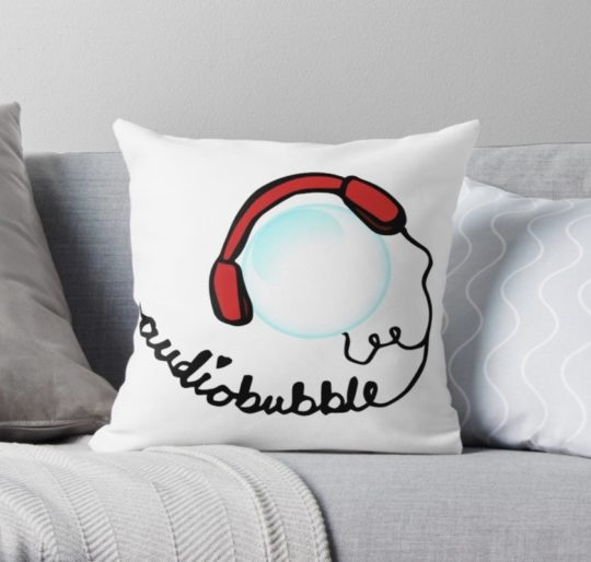 Cute Audiobubble throw pillow