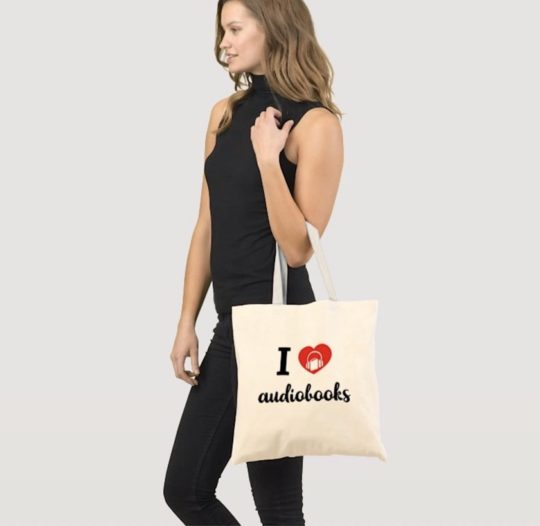 I Heart Audiobooks tote bag
