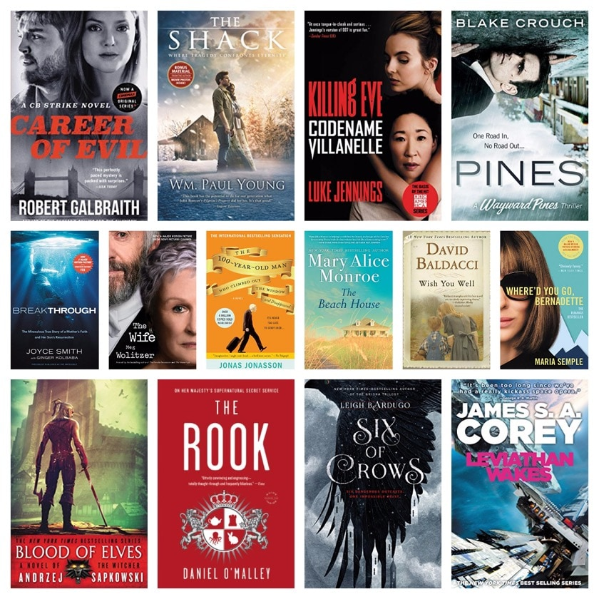 Kindle deal - books turned into movies and TV series - July 2019